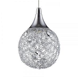 Kendal Lighting Solaro Chrome Multi-Light Modern Globe Pendant