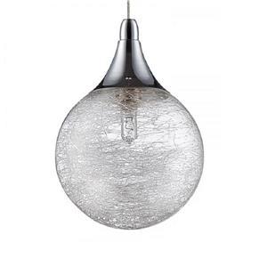 Kendal Lighting 4.75-in Chrome Mini Modern Textured Glass Globe 1-Light Pendant