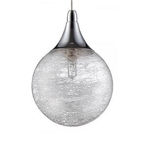 Kendal Lighting 33.50-in Chrome Modern Textured Glass Globe Rectangular 5-Light Pendant