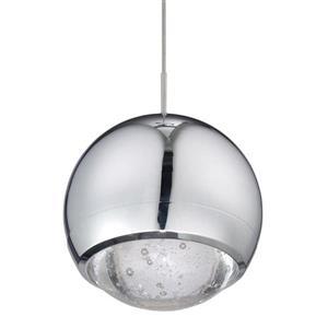 Kendal Lighting 4.75-in Chrome Mini Modern Glass Orb Pendant