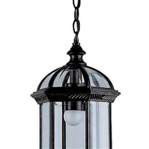 DVI Hexagon Black Clear Bevelled Glass Traditional Pendant Lighting