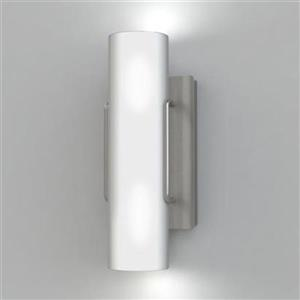 Kendal Lighting Nextra 4.72-in W Satin Nickel Hardwired Ambient Wall Sconce