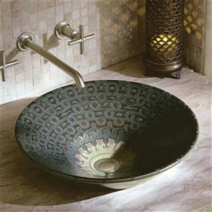KOHLER Serpentine Bronze Conical Bell Sandbar Vessel Bathroom Sink