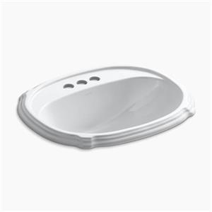 KOHLER Portrait 22.63-in White Self-Rimming Sink