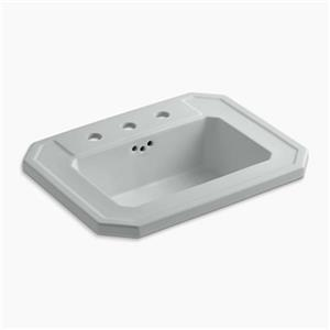 KOHLER Kathryn 24-in x 7.88-in Ice Grey Self Rimming Sink