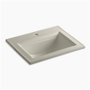 KOHLER Memoirs 22.75-in Sandbar Self-Rimming Sink with Stately Design