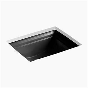 kohler memoirs 20.68-in black undercounter sink | lowe's