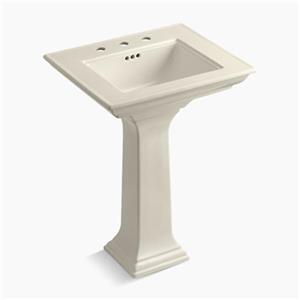 kohler 2344 memoirs 24.5-in almond pedestal lavatory sink