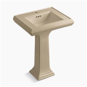 KOHLER Memoirs 24-in x 34.38-in Mexican Sand Pedestal Sink