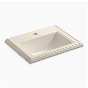 KOHLER Memoirs 2.75-in x 8.75-in Almond Rectangular Self Rimming Sink