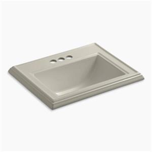 KOHLER Memoirs 2.75-in x 8.75-in Sandbar Rectangular Self Rimming Sink