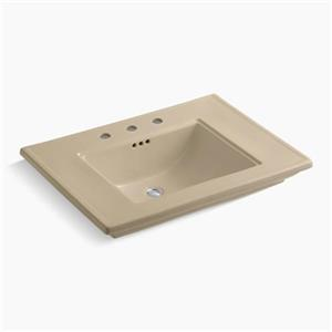 KOHLER Memoirs 30-in x 8.63-in Mexican Sand Fire Clay Above Counter Rectangular Sink