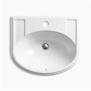 KOHLER Devonshire 19.75-in x 8-in White Porcelain Self Rimming Sink