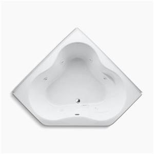 KOHLER 54-in x 54-in Alcove Whirlpool with Integral Flange