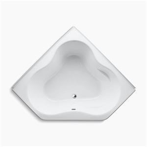 KOHLER 54-in x 54-in Alcove Bath with Tile Flange