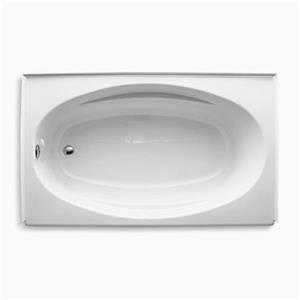 kohler 60-in x 36-in alcove bath with tile flange | lowe's