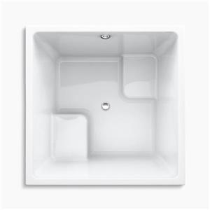 KOHLER 48-in x 48-in Cube Drop-in Bath with Center Drain