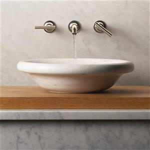 KOHLER Botticelli 17-in White Carrara Marble Sink