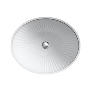 KOHLER Linia 19.25-in White China Fire Clay Under Counter with Glazed Underside Sink