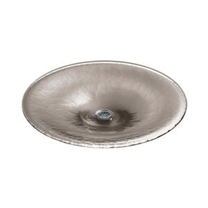 KOHLER Lavinia 19-in Translucent Doe Round Glass Sink