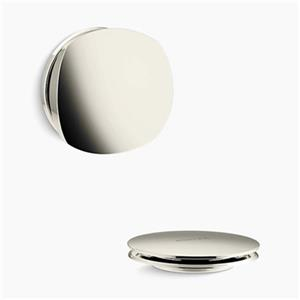 KOHLER PureFlo Rotary Turn Bath Drain Trim (Polished Nickel)