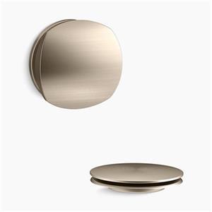 KOHLER PureFlo Rotary Turn Bath Drain Trim (Brushed Bronze)