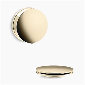 KOHLER PureFlo Contemporary Rotary Turn Bath Drain Trim (French Gold)