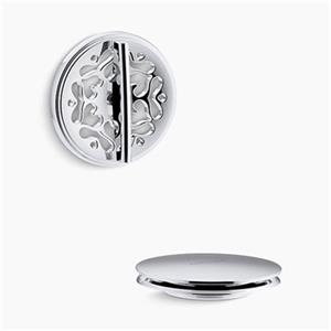 KOHLER PureFlo Victorian Rotary Turn Bath Drain Trim (Polished Chrome)