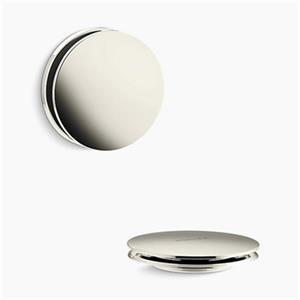 KOHLER PureFlo Contemporary Push Button Bath Drain Trim (Polished Nickel)