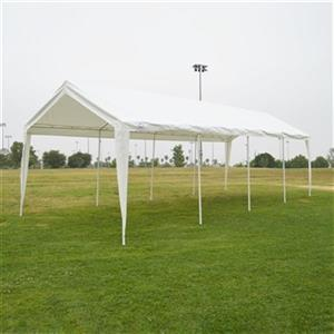 Impact Canopies Canada 10-ft x 27-ft White Carport Canopy ...