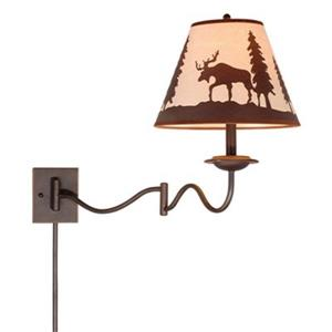 Cascadia Yellowstone Collection Brushed Bronze Swing Arm Single Light Wall Sconce