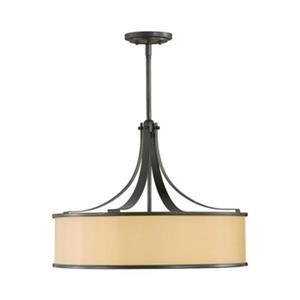 Feiss 4-Light Casual Luxury Dark Bronze Semi Flush Large Pendant Light