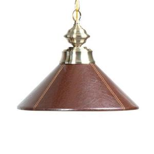 Leather Shaded Large Pendant