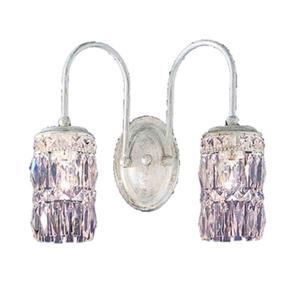 Classic Lighting Cascade Collection Antique White Amethyst 2-Light Wall Sconce