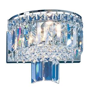 Classic Lighting Ambassador Collection Chrome Swarovski Spectra 2-Light Wall Sconce