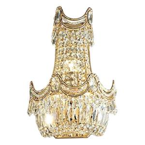 Classic Lighting Regency Collection 24k Gold Plate Swarovski Strass 3-Light Wall Sconce