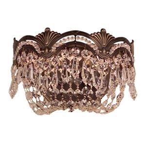 Classic Lighting Regency II Collection Roman Bronze Crystalique Golden Teak 2-Light Wall Sconce