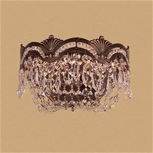 Classic Lighting Regency II Collection Roman Bronze Crystalique-Plus 2-Light Wall Sconce