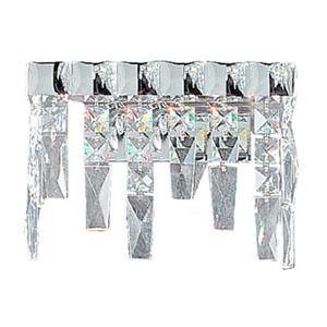 Classic Lighting Uptown Collection Chrome Swarovski Spectra 2-Light Wall Sconce