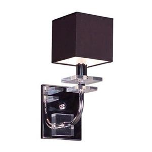 Classic Lighting Quadrille Collection Black Single Light Wall Sconce