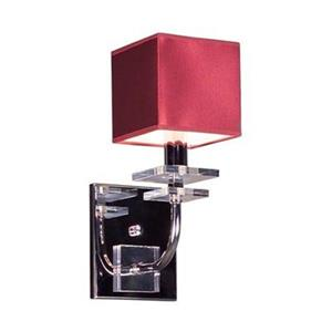 Classic Lighting Quadrille Collection Burgandy Single Light Wall Sconce