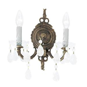 Classic Lighting Madrid Collection Roman Bronze Swarovski Strass 2-Light Wall Sconce