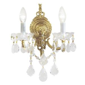 Classic Lighting Madrid Imperial Collection Olde World Bronze Strass Golden Teak 2-Light Wall Sconce