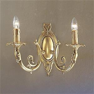 Classic Lighting Princeton Collection Satin Bronze with Brown Patina 2-Light Wall Sconce