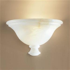 Classic Lighting Navarra Collection Cream Alabaster Single Light Wall Sconce