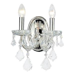 Classic Lighting Maria Theresa Collection Chrome Crystalique 2-Light Wall Sconce