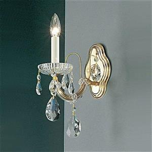 Classic Lighting Maria Theresa Collection Olde World Gold Crystalique Wall Sconce