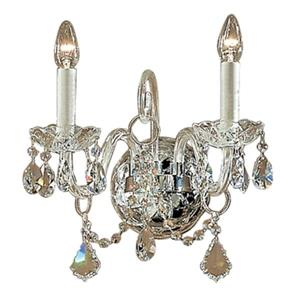 Classic Lighting Bohemia Collection 24k Gold Plate Swarovski Spectra 2-Light Wall Sconce
