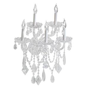 Classic Lighting Prague Collection Chrome Swarovski Spectra 5-Light Wall Sconce