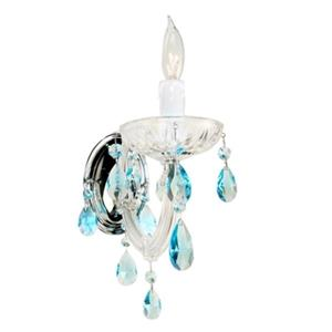 Classic Lighting Rialto Traditional Gold Plated Swarovski Spectra 1-Light Wall Sconce